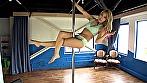 初めてのsexy pole danceでエクササイズ 桧山かおり
